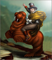 Dude on a Walrus, from Rain-Slick 3.  Wait, what? by slash000