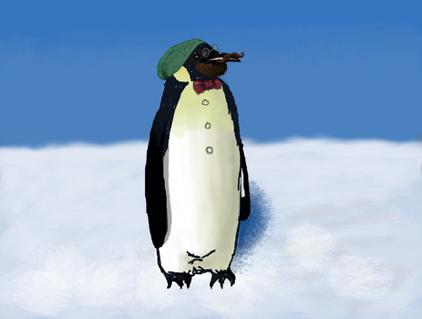 Hipster Penguin by Astarsia