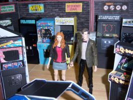 The Doctor and Amy in the Arcade II by MisterBill82