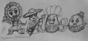 PvZ Heroes and FNAF crossover-The Gang(FNAF 1) by Velatina-young