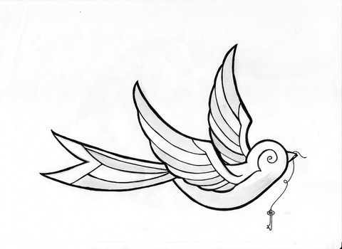 Bird Tattoo Design by JW2011