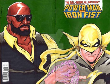 Power Man and Iron First sketch variant by jackpurcell38