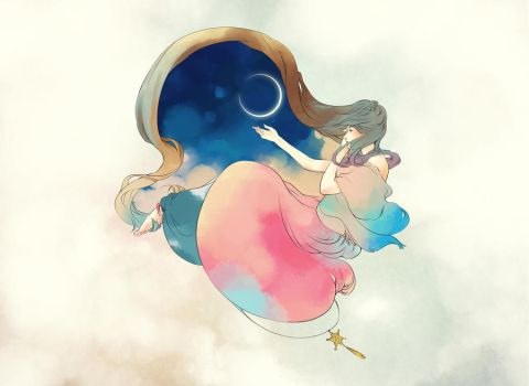 moon by pigwing