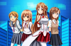 .: Fighting Climax Brunette Girls :. by Sincity2100