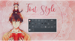 Font Style Pack #01 - My favorites 2OI8/2OI9 by KuroTennyo