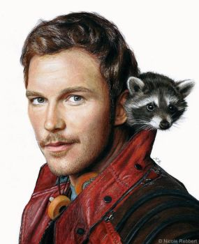 Star-Lord (drawing) by Quelchii