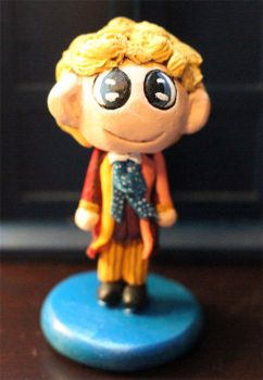 Chibi Sixth Doctor Figure by comicalclare