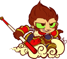 The Monkey King by adrusaurio