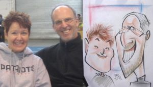 caricature- hair smile 2010 by chrisCHUA
