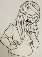 Lisa is Disgusted by curiousdoodler