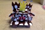 Queen Cow in her throne (Cubic Version) by Mario1998