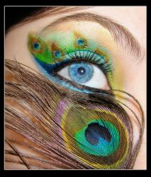 peacock make-up by Dead-Rose-16