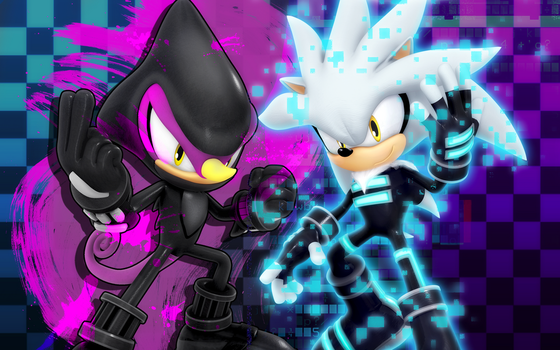 Silver and Espio Team Up by Nibroc-Rock