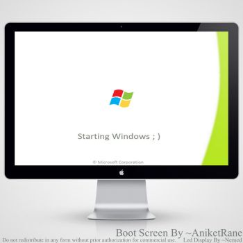 Windows 8 Unofficial Boot Screen For Windows 7 by AniketRane