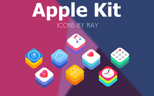 Apple Kit Default App Icons by Ray by Raiiy
