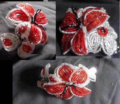 Canada Day flower clip by MissCreepers