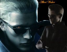 Wesker blendy picture O_O by insaneRay