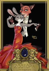 Zootopia Art Deco by yelnatsdraws