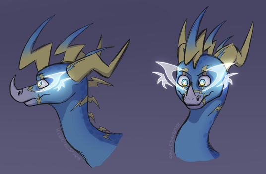 Light Element - eye markings concept by IcelectricSpyro
