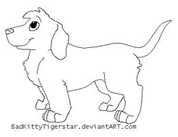 Dachshund Lineart by BadKitty-Adopts