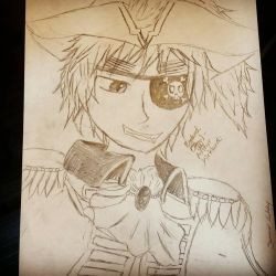 (Drawing) Pirate England by SummyChanNya