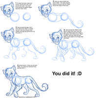 How to Draw Felines: Body by JustAutumn
