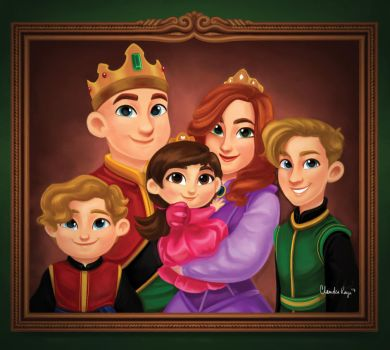 Royal Family Portrait by cracket