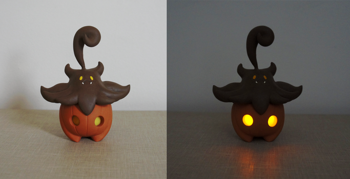 Pumpkaboo with LEDs by Seshirox