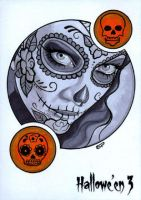 Hallowe'en 3 Sketch Card - Sean Pence 1 by Pernastudios