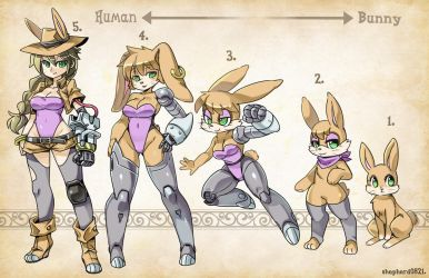 Types bunnie rabbot by shepherd0821