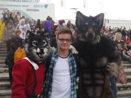 The Wolfmen with my brother by Collioni69
