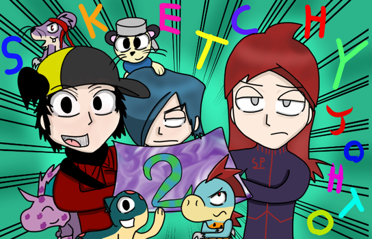Sketchy Johto 2 year anniversary! by Charlemagne1