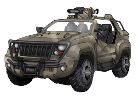 Joint Light Tactical Vehicle (Jolt Hoverjeep) by MedronPryde
