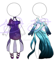 Galaxy and Abyss Clothing Adopts -CLOSED- by JKDreamer