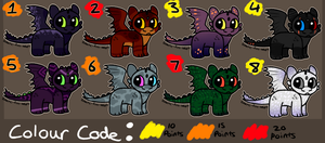 Cheap Night Fury Point Adopts (CLOSED) by galactic-fire-adopts