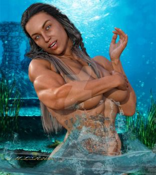 Muscle and Beauty -The Power of Water by MichelleLeRainbow