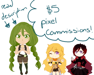 Pixel Commissions!!(OPEN FOREVER) by Misaki-Chinatsu