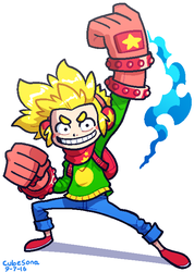 COMMISSION: Action Boy by Cubesona