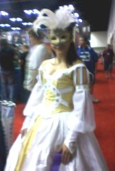 Yellow and White Masquerader by SpellboundFox
