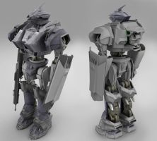 unfinished mecha by Chiefregent