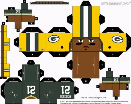 Charles Woodson Packers Cubee by etchings13