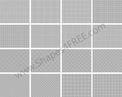 120 Photoshop Grid Patterns by Shapes4FREE
