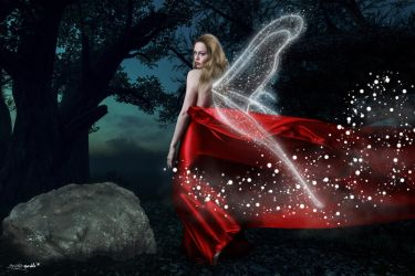 Red gown fairy by angela-sparkle