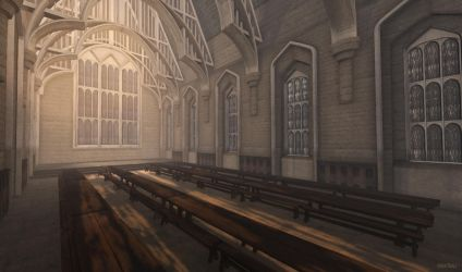 Mischief Managed | Empty Great Hall by ohmai-faise
