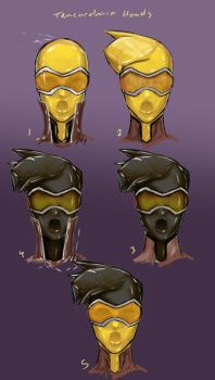 Tracerdrone Head Studies by DreampaintLoon
