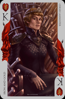 Game of Thrones card: Cersei Lannister by Blu-Oltremare
