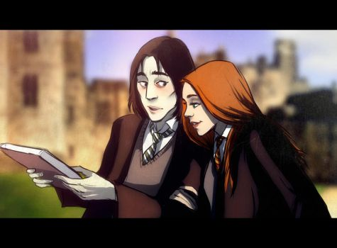 Snape and Lily by andrahilde