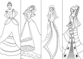 Animated Women Lineart 3 by JunebugHardee