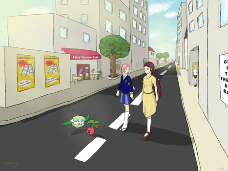 A stroll through Frangipanie [Pokemon Dango] by WaddleBih
