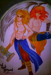 DIOSES: Thor and Hermod by ehatsumi